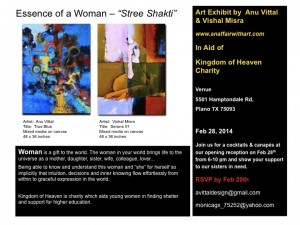 "Art Exhibit: Essence of a Woman – ""Stree Shakti"""