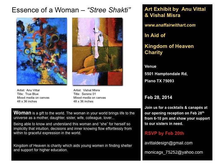 "Art Exhibit: Essence of a Woman – ""Stree Shakti"""